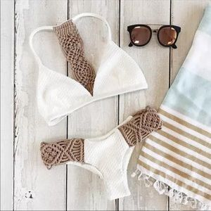 🌴Tahiti White Knit Bikini🌴